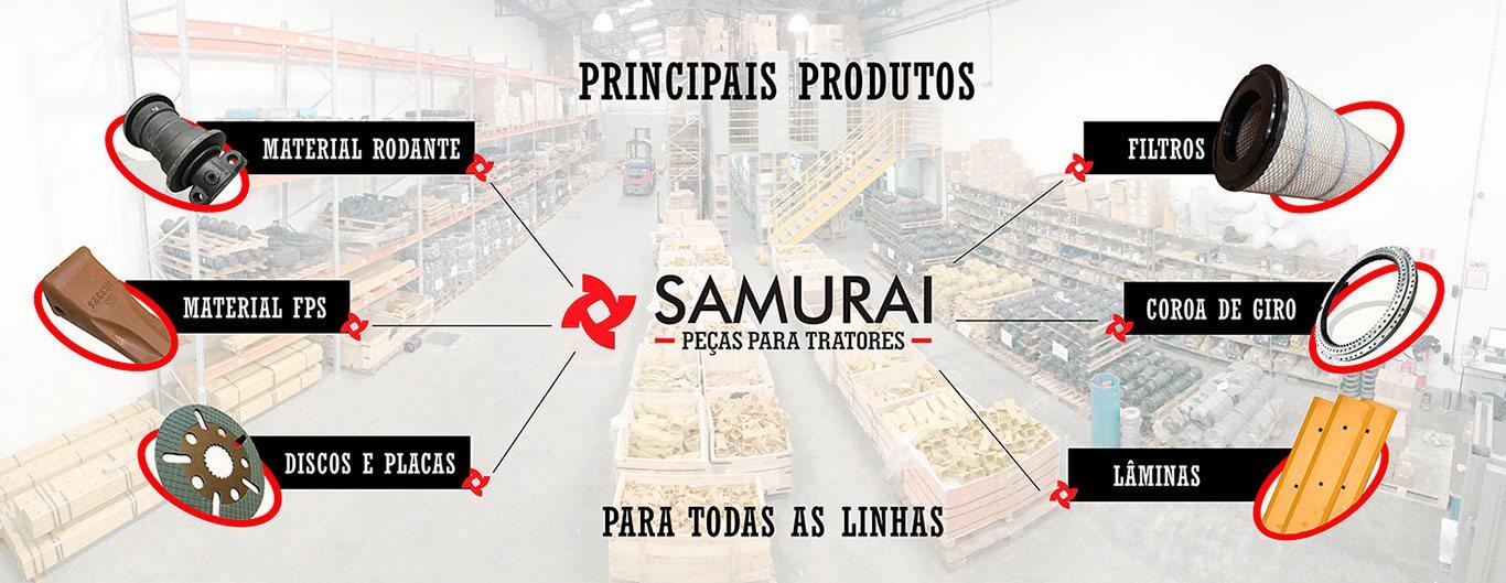 Principais Produtos Samurai - Peças para Tratores
